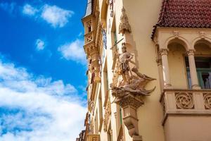 vacker fasad av gammal byggnad