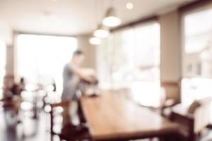 defokuserad kafé och restaurangbakgrund