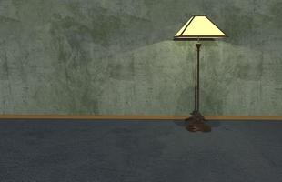 Bakgrund för illustration 3d, trägolv och cementlandskap foto