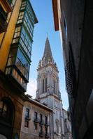 kyrka arkitektur i bilbao stad, spanien foto