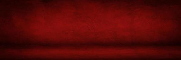 mörkröd cementstudio och showrumsbakgrund för produktvisning eller presentation foto