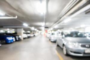 defokuserad garage bakgrund