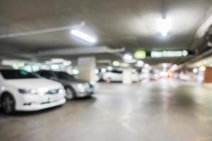 defokuserad garage bakgrund foto