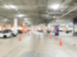 abstrakt defocused garage bakgrund foto