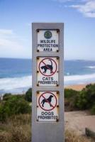 tecken på australisk strand
