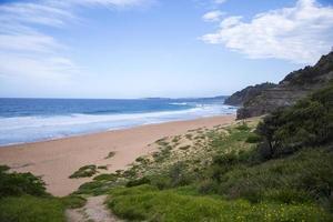 vy vid den australiska stranden