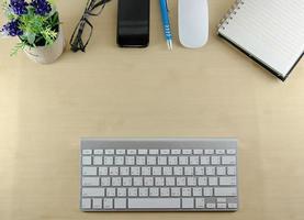 kontorsbord ovanifrån