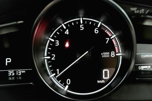 körsträcka på en hastighetsmätare foto