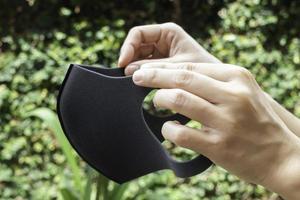 hygienisk ansiktsmask för att förhindra virus foto