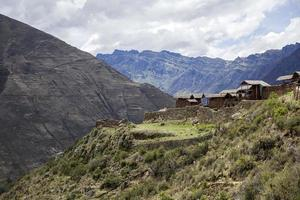 inkaruiner vid Pisac, Peru
