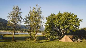 camping för turisttält