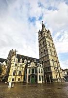 belfort tower eller belfry of gent, flanders, belgien