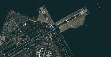 Flygfoto över en flygplats