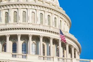 kupolen i USA: s huvudstadsbyggnad. Washington DC, USA. foto
