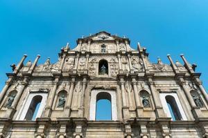 ruinerna av St. Pauls kyrka i Macau