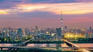 stadsbilden i tokyo, japan