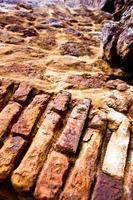 abstrakta tegelstenar och stenar foto