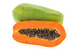 papaya frukt isolerad foto