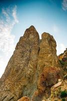 bergen av cape våldsamma på krim foto