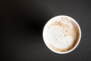 latte kaffekopp foto
