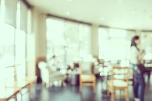 abstrakt defocused kaféinredning för bakgrund foto