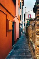turistdistrikt i den gamla provinsstaden Caorle i Italien