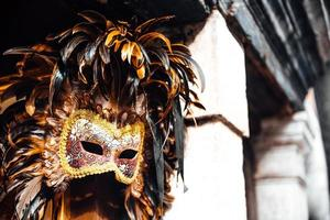 Venedig, Italien 2017 - venetianska skyltfönster med masker foto