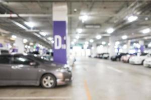 abstrakt oskärpa bilparkering