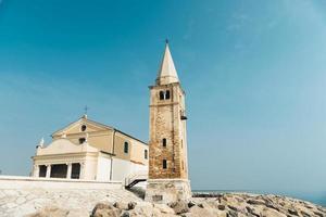 kyrkan av vår dam av ängeln på stranden av caorle italien