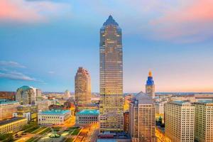 utsikt över centrala Cleveland foto