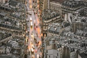Flygfoto över Paris i området gamla stan
