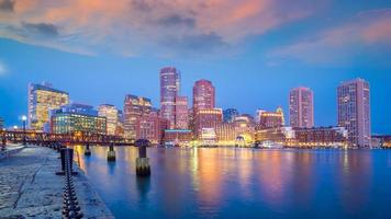 boston city downtown skyline usa
