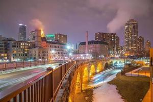 minneapolis city downtown skyline usa