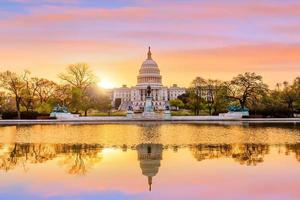 huvudstadsbyggnad i Washington DC foto