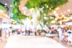 abstrakt oskärpa och defokusera vacker lyxig shoppinggalleriainredning