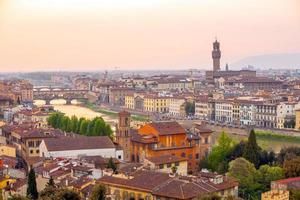 florence city downtown skyline stadsbilden i italien foto