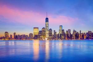 Manhattan skyline i usa