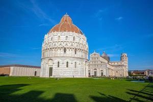 pisakatedralen och det lutande tornet foto