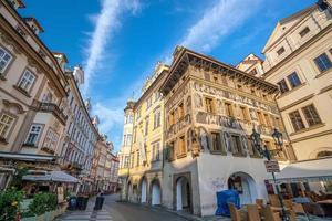 arv byggnader i gamla stan i Prag i Tjeckien