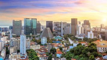 panoramautsikt över Rio de Janeiro centrum foto