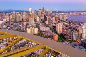 seattle city downtown skyline stadsbild i washington state, usa