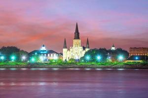 st. louis katedral i det franska kvarteret, new orleans, louisiana usa foto