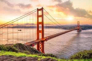 gyllene gate bridge i san francisco foto