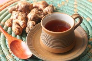 ovanifrån av ingefära te