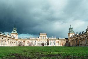 Warszawa, Polen 2017 - gamla antika palatset Wilanow i Warszawa foto