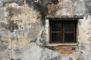knäckt betongvägg textur bakgrund foto