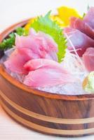 färsk rå sashimi fisk