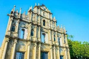 ruinerna av St. Paul-kyrkan i Macau City, Kina