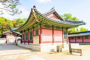 byggnader i changdeokgung palats i Seoul stad, Sydkorea foto