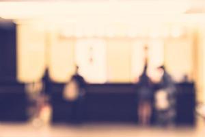 abstrakt oskärpa hotell lobby - vintage filter foto
